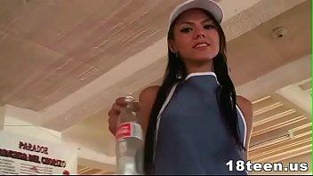 Tiny latina teen claudia castro fucked in a hotel room