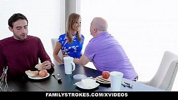 Familystrokes - Stepson Dicks Down Pervy Stepmom (Christy Love)