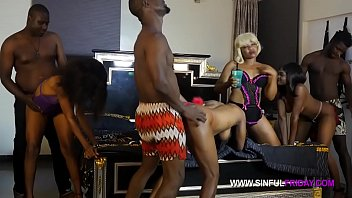 Full Sinfulfriday orgy party: Sexy Splash, Caramel Shawn, Juicy Box, Natasha Fredrick, Alhaji, Impo, Sambo, Mr Bombastic