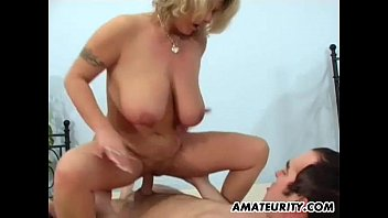 Moms with chubby pussy fucked video - Busty amateur mom sucks and fucks with facial