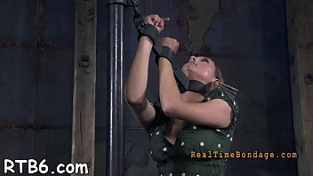 Lovely cutie receives facial torture during s&m play