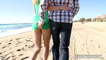 Sexy Blonde Teen picked up at the beach