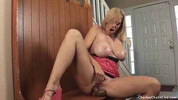 Horny Tampa MILF Charlee Chase Loves her Big Black Dildo