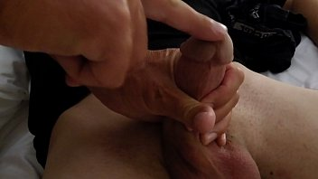 Wife and me jerking off our neighbors son.
