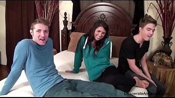 Casting Danielle AKA Evi Fox Desperate Amateurs threesome spitroast