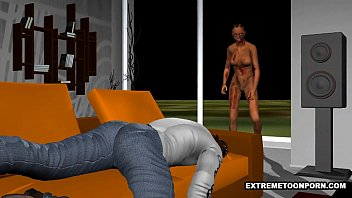 Sexy 3D zombie babe gets fucked hard by an ebony stud