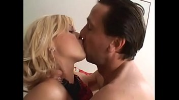 Cute blonde Sarah Blue with nice tits cries out as huge cock pounds her tight ass on sofa