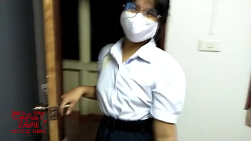 Asian teen sex with his girlfriend wear thai student uniform 12分钟