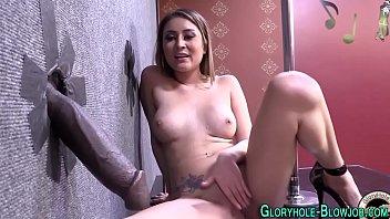 Stripper gloryhole cummed