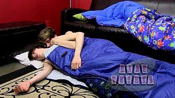 Twink boys Sleepover bareback boys