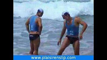 Aussie gay mustache Men in swimwear