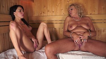 Pictures of hot lesbian young old - Lesbian moments in the sauna