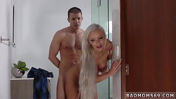 Scissor blowjob and mom trapped in sink A Mother playfellow's