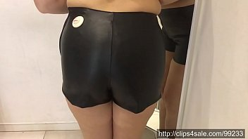 October 12, 2019 - In the changing room: two leather shorts