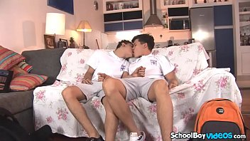 Twink teen boy videos Twink latino boy sucks an uncut dick and gets fucked