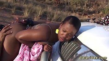 Ebony dildo movies - Chubby african babe outdoor fucked