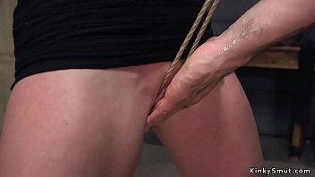 Busty Milf rough banged in strict bondage