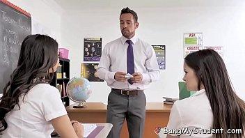 Horny School Slut Eliza Ibarra Fucks Teacher In Detention