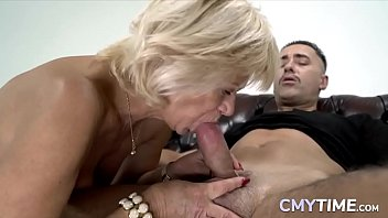 Blonde granny loves a big cock in her old pussy