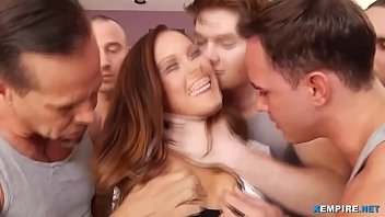 Sexy lady enjoys multiple cumshots on face
