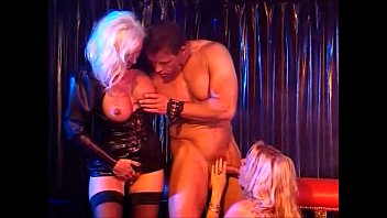 Leather fetish nyc - Two hot horny beautiful blondes in leather get a good fuck, helen duval