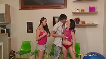 young girl and boy in first porn scene