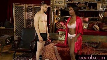 Ebony masseuse Daya Knight pussy fucked