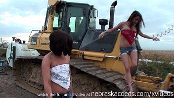 incredible teens nude on neighborhood construction equipment thumbnail
