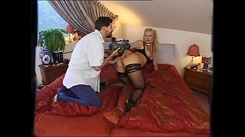 5574 A blonde bitch gets fucked and filmed by two guys when her husband is away preview