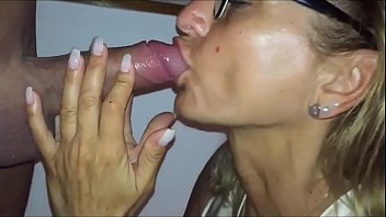 Latina mom I met online passionately sucking me off