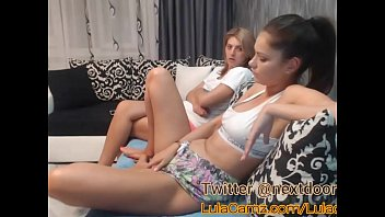 Foot lesbian cam - Hot lesbian plays with her friend on cam then squirts