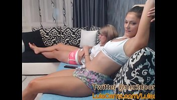 Hot Lesbian Plays With Her Friend on Cam Then Squirts thumbnail