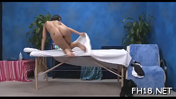 Hot and sexy 18 year old babe gets fucked hard doggy style from her masseur
