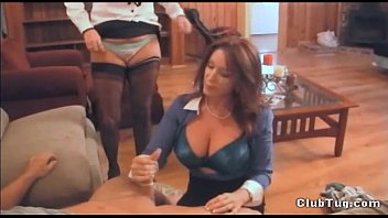 Rachel steele jerk off for mother - Double sexy milf handjob