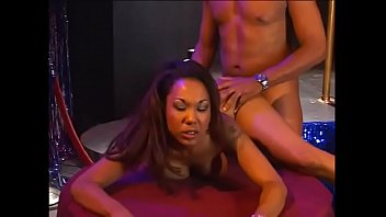 Victoria styles facial - Ebony skank victoria style takes a thick cock up her tight pussy and tastes jizz