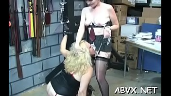 Harsh treatment on mature pussy in hot slavery xxx