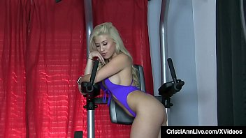 Asian Latina Cristi Ann Works Out 70's/80's Style In WarmUps preview image