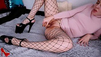 Hot Brunette Teasing and Masturbate Wet Pussy after Club - Closeup صورة