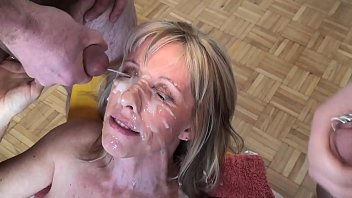 Cum on faces mature Another day, another blow-bang bukkake