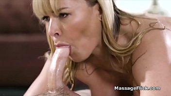 Busty Oily Milf Milks Studs Cock During Massage
