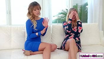 Lesbian milf licks her busty stepsis