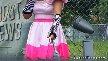 Adult sportacus lazytown costume Costumed teen hitchhiker banged huge cock outdoor