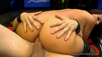 German slut with amazing tits gets anal with bukkakes