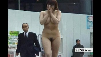 Embarrassing nude moments - Subtitled japanese authentic public nudity in tokyo