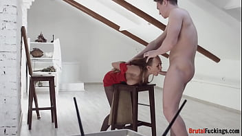 Teenage sub hardfucked from behind