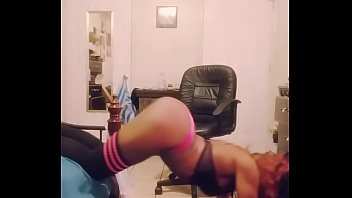 Image: Double dancing video in pink thong and sexy thigh highs