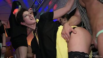 Drunk orgy with Emylia Argan and other hot Czech bitches