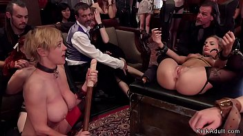 Hot slaves fucked in bdsm brunch party
