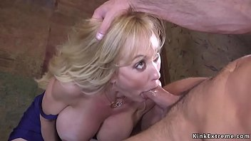 Busty Milf tied up by her biggest fun