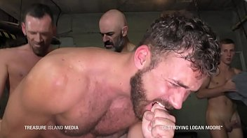 Sling gay - Hardcore dungeon gangbang breeding muscle slut
